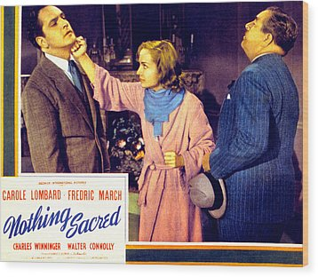 Nothing Sacred, Fredric March, Carole Wood Print by Everett