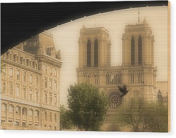 Notre Dame Cathedral Viewed Wood Print by John Sylvester