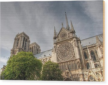 Wood Print featuring the photograph Notre Dame De Paris by Jennifer Ancker