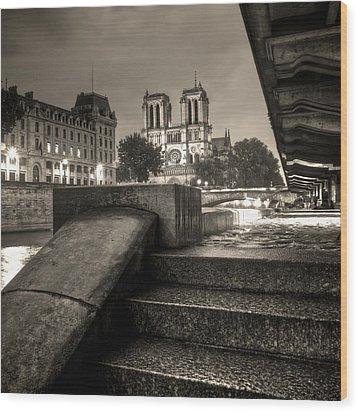 Notre-dame De Paris Wood Print by Matthieu Godon