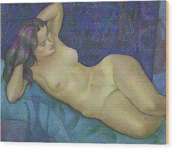 Nu 15 Wood Print by Leonid Petrushin