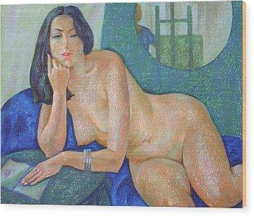 Nu 22 Wood Print by Leonid Petrushin
