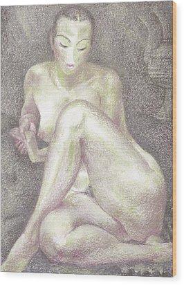 Nu 36 Wood Print by Leonid Petrushin