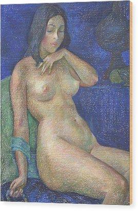 Nu 68 Wood Print by Leonid Petrushin