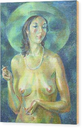 Nu 89 Wood Print by Leonid Petrushin