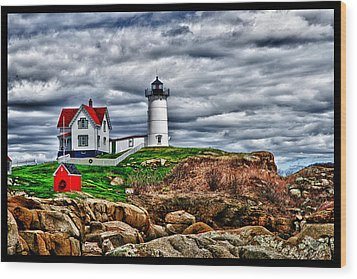 Nuble Light Creation Wood Print by Rick Bragan