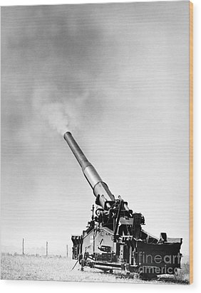 Nuclear Artillery, 1950s Wood Print by Granger