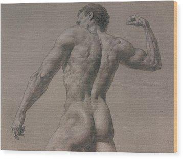 Nude - 8 A Wood Print by Valeriy Mavlo