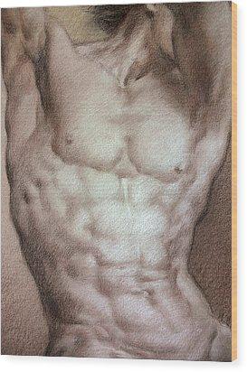 Nude 9 B Wood Print by Valeriy Mavlo