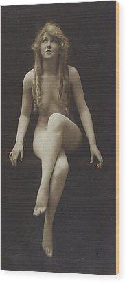 Nude Girl 1915 Wood Print by Steve K