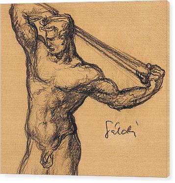 Nude Men Wood Print by Odon Czintos