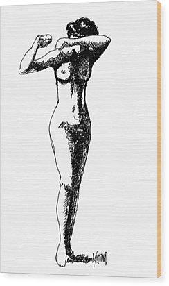 Nude Study 1 Wood Print
