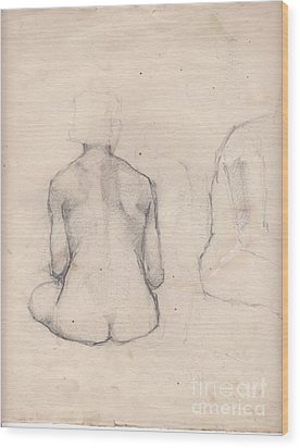 Nude Study 4 Wood Print by Brian Francis Smith