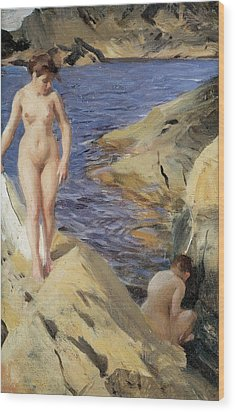 Nudes Wood Print by Anders Zorn