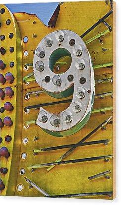 Number Nine Wood Print by Garry Gay