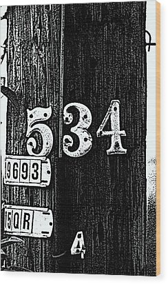 Numbers Wood Print by Bret Worrell