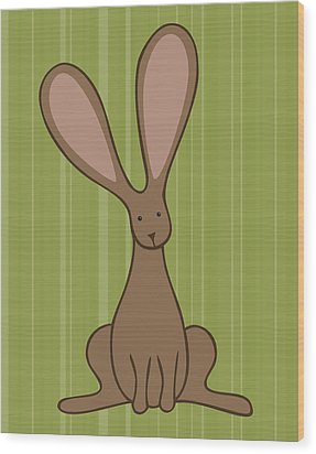 Nursery Art Bunny Wood Print by Christy Beckwith