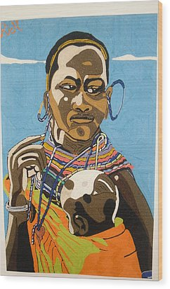 Nurturing Wood Print by Richmond Agbesi