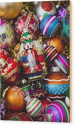 Nutcraker Ornament Wood Print by Garry Gay
