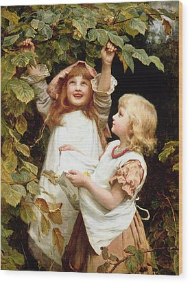 Nutting Wood Print by Frederick Morgan