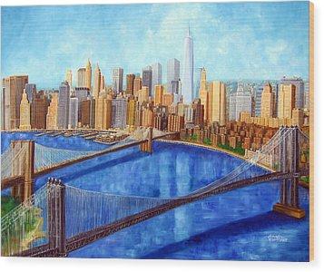 Ny City Resurrection Wood Print by Leonardo Ruggieri