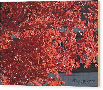 Wood Print featuring the digital art Ny Fall by EricaMaxine  Price