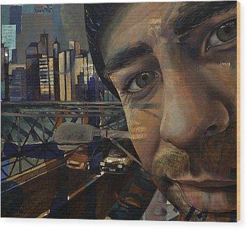 Ny Tony Wood Print by Jami Childers