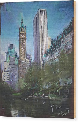 Nyc Central Park 2 Wood Print by Ylli Haruni