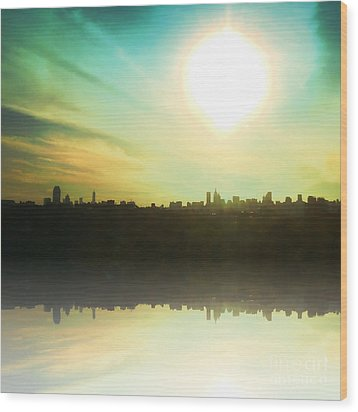 Nyc Light Of Lights Wood Print by Christine Segalas