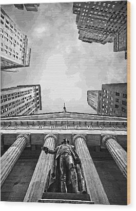 Nyc Looking Up Bw16 Wood Print by Scott Kelley