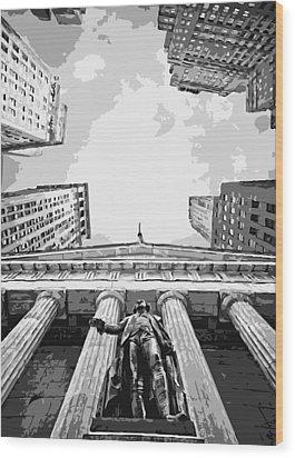 Nyc Looking Up Bw6 Wood Print by Scott Kelley