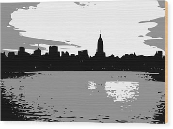 Nyc Morning Bw3 Wood Print