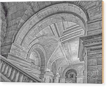 Nyc Public Library Wood Print by Susan Candelario