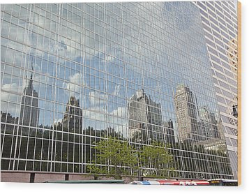 Nyc Reflection 3 Wood Print by Art Ferrier