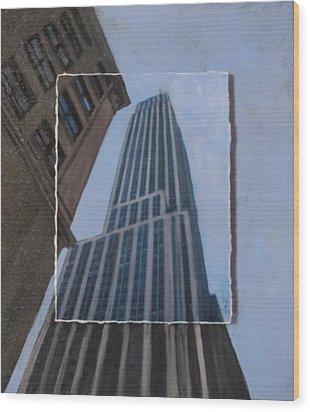 Nyc Severe Empire Layered Wood Print by Anita Burgermeister