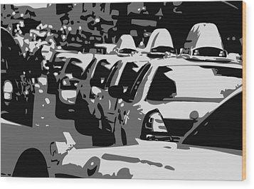 Nyc Traffic Bw3 Wood Print by Scott Kelley