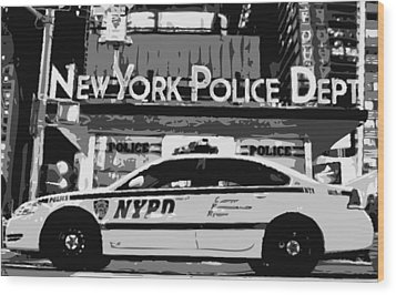 Nypd Bw8 Wood Print by Scott Kelley