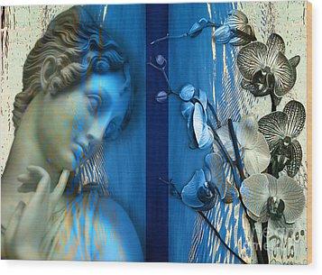 Wood Print featuring the digital art O Tu... Suavissima Virga by Rosa Cobos