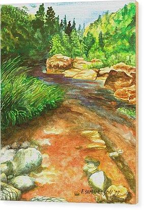 Oak Creek Red Wood Print