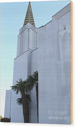 Oakland California Temple . The Church Of Jesus Christ Of Latter-day Saints . 7d11335 Wood Print by Wingsdomain Art and Photography