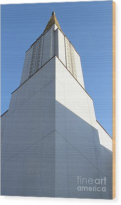Oakland California Temple . The Church Of Jesus Christ Of Latter-day Saints . 7d11337 Wood Print by Wingsdomain Art and Photography