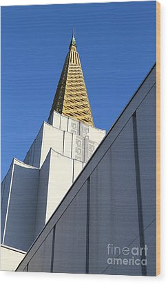 Oakland California Temple . The Church Of Jesus Christ Of Latter-day Saints . 7d11338 Wood Print by Wingsdomain Art and Photography