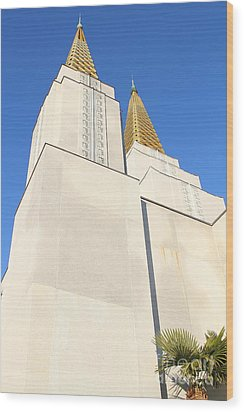 Oakland California Temple . The Church Of Jesus Christ Of Latter-day Saints . 7d11345 Wood Print by Wingsdomain Art and Photography