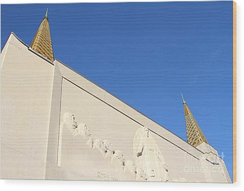 Oakland California Temple . The Church Of Jesus Christ Of Latter-day Saints . 7d11347 Wood Print by Wingsdomain Art and Photography