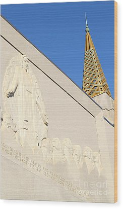 Oakland California Temple . The Church Of Jesus Christ Of Latter-day Saints . 7d11348 Wood Print by Wingsdomain Art and Photography
