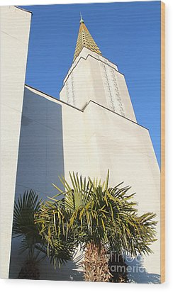 Oakland California Temple . The Church Of Jesus Christ Of Latter-day Saints . 7d11352 Wood Print by Wingsdomain Art and Photography