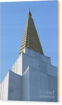 Oakland California Temple . The Church Of Jesus Christ Of Latter-day Saints . 7d11358 Wood Print by Wingsdomain Art and Photography
