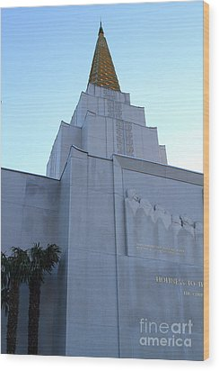 Oakland California Temple . The Church Of Jesus Christ Of Latter-day Saints . 7d11364 Wood Print by Wingsdomain Art and Photography