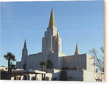 Oakland California Temple . The Church Of Jesus Christ Of Latter-day Saints . 7d11375 Wood Print by Wingsdomain Art and Photography