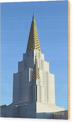 Oakland California Temple . The Church Of Jesus Christ Of Latter-day Saints . 7d11381 Wood Print by Wingsdomain Art and Photography